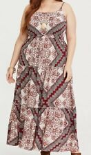 Torrid Scarf Print Challis Maxi Dress Women 2/2X (18-20) NWT