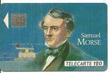 RARE / CARTE TELEPHONIQUE - SAMUEL MORSE : 120 SO4 INVENTION FRANCE / PHONECARD
