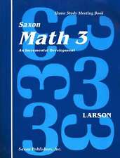 Saxon Math 3 Homeschool Student Meeting Book First Edition 3rd Grade NEW!