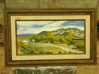 Northern New Mexico Valley 1976 Oil on Masonite by Sallie Salazar