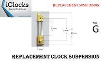 Brass Clock Pendulum Large Suspension Spring. (Type G) UK Seller