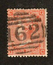 Great Britain stamp #43, used, 1865, Queen Victoria, p. 9,  wmk. 23, SCV $72