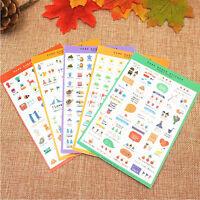 5 Blatt NEUE Papier Sticker Fotoalbum Scrapbook Tagebuch Planer Dekor Aufkleber
