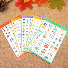 5 Sheets Cute Paper Sticker Photo Album Scrapbook Diary Planner Decor Stickers