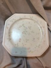 "Mikasa F3020 Boulton 10.25"" Octagonal Floral Dinner Plate 5 Pieces NEW"