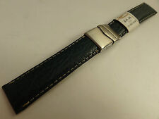 New ZRC France Green Shark 20mm Watch Band Steel Deployment Sealock Clasp $34.95
