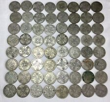 More details for job lot british silver florins / two shilling coins pre 1947 706g, mixed grades