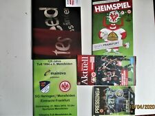 Eintracht Frankfurt 5 Auswärts-Programme Gesamtabnahme