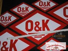 grosser Original Aufkleber  O&K 45x29cm (Rautenform)Orenstein & Koppel Bagger RH