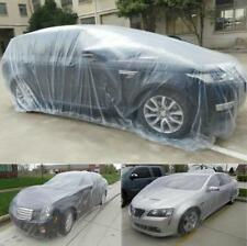 1 x Large Clear Plastic Temporary Disposable Car SUV Cover Rain Dust Snow Garage
