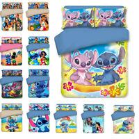 3D Disney Lilo & Stitch Kids Quilt Cover Bedding Set Duvet Cover Pillowcase Set