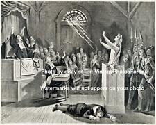 Old Antique Vintage Weird Strange Odd Creepy Salem Witch Trial Photo Picture