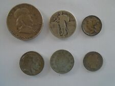 Lot of 6 Vintage U.S. coin collection