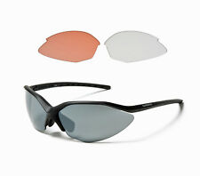 New Shimano Cycling Sport Sunglasses CE-S52R Black Frames 3 Lens Sets