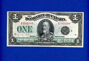 1923 $1 DOMINION OF CANADA BANK CAMPBELL/CLARK RARE CRISP HIGH GRADE NOTE