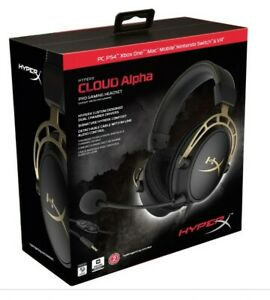 HyperX HX Cloud Alpha Pro Limited Edition Gaming Headset - Gold