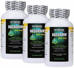Nutramax Dasuquin with MSM SM/MD Dogs Joint Supplement 3-Pack 252 Tabs