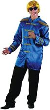 SGT PEPPER JACKET, BLUE, ADULT COSTUMES, 1960s BEETLES FAB 4 FANCY DRESS