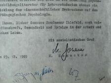 Margot Honecker Faksimile auf Schreiben vom Ministerium Volksbildung