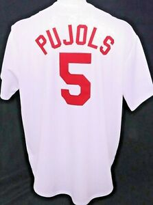 St. Louis STL Cardinals 5 Albert Pujols MLB Majestic Baseball Jersey Men's 2XL