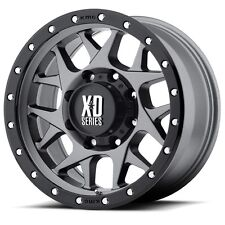 18 Inch Wheels Rims Black Grey Jeep Wrangler JK Rubicon Sahara XD Series XD127