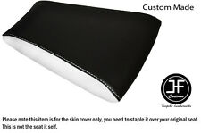 WHITE & BLACK AUTOMOTIVE VINYL CUSTOM FITS RIEJU RS3 125 REAR SEAT COVER ONLY