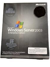WINDOWS SERVER 2003, ENTERPRISE EDITION, 25 CAL, NEW IN SEALED BOX