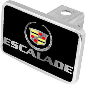 New Cadillac Escalade Mirrored Logo/Word Hitch Cover Plug
