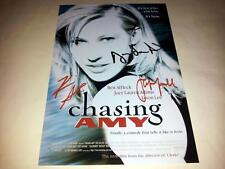 """CHASING AMY CAST X3 PP SIGNED 12""""X8"""" POSTER JASON LEE KEVIN SMITH"""