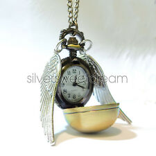 Collana BOCCINO D'ORO HARRY POTTER OROLOGIO Golden Snitch Necklace collier