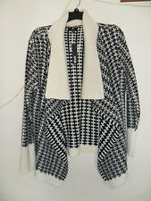 Women's Apt. 9 Textured Wool-Blend Cardigan Black and White size:XL New with tag