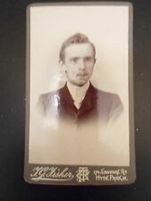 Antique Cabinet Photograph Smart Young Man ~ J G Fisher, Edgeware Road Hyde Park