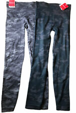 NWT Lot of 2 SPANX Look At Me Now Gray & Black Camo Leggings Pants size S M  L