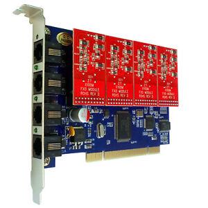 TDM400P 4 FXO FXS Card Supports sangoma freepbx issabe asterisk VoIP PBX tdm410p