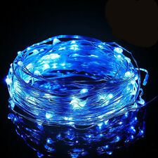 Stringa Led USB Blu Blue Filo Rame Copper Wire String 10 Metri 100 Led IP67 Per