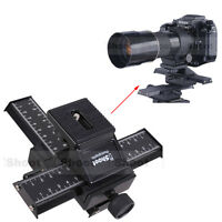 4-way Macro Focusing Rail Slider Tripod Head Support for Nikon Camera+Lens+Flash