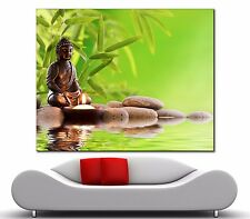 """Not Framed 24x24"""" Canvas Prints Green Bamboo Buddha Home Decor Wall Art Pictures"""