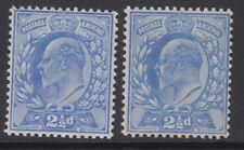 SG 230-1 2 1/2 d Outremer pâle/bleu outremer M16 (2-3) Paire P.O. Fresh U Comme neuf