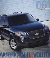 2006 Chevrolet Uplander Van 20-page Original Car Sales Brochure Catalog