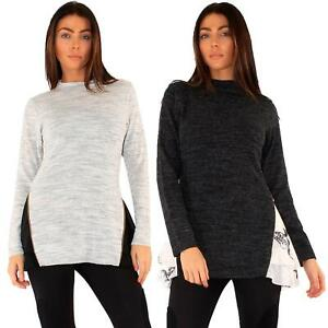 Women High Neck Jumper Knitted Cardigan Long Sleeve Seductive Touch Casual Top