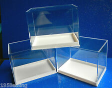 12 Large Perspex Display Specimen Boxes Die Casts Crystals Fossils Meteorites