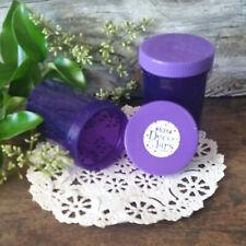 6 Plastic Purple Jar Bottle Cap Screw Top 3 ounce Herbs 5314 DecoJars USA New