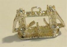 Drawbridge with Tiny Boat Passing Thru Sterling Silver 925 3D Charm for Bracelet