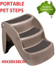 Dog Portable Step 3 Steps Stairs Pet Ramp Foldable Collapsible Multi Purpose NEW
