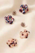Stella and Dot Flora Versatile Statement Stud Earrings Neutral Multi New