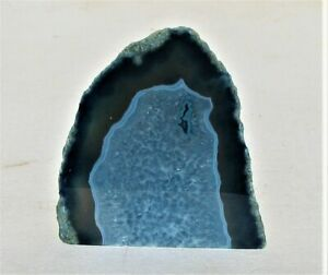 Large Blue Agate With Quartz Crystal Display From Brazil  (AGATEE1)