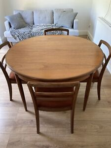 Vintage Retro G Plan Teak Dining Table and 4 Chairs