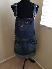NWT Denim overalls women vintage Babyphat Skirt Size 16.Too Cute