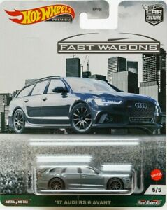 HOTWHEELS NEW CAR CULTURE FAST WAGONS 17 AUDI RS 6 AVANT ALLOYS RUBBER TYRES ,,