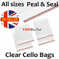 Strong Clear Cellophane Bags Display Garment Self Adhesive Peel Seal Plastic OPP
